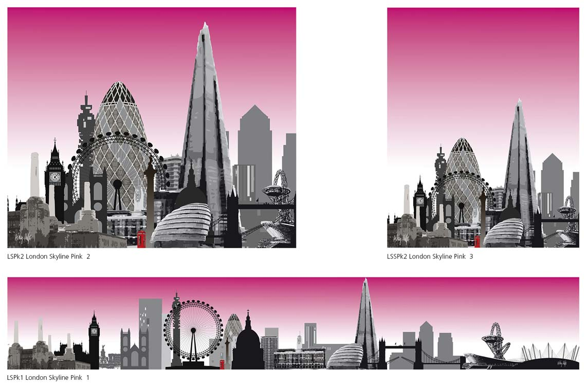 London Skylines Printed on Glass